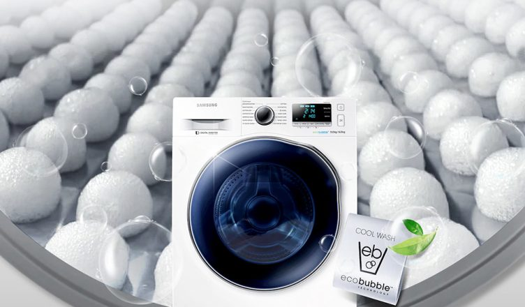 Samsung WD90J6A10AW ecobubble washer dryer
