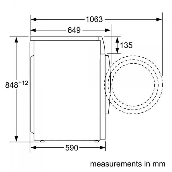 WVG30462GB sizing diagram