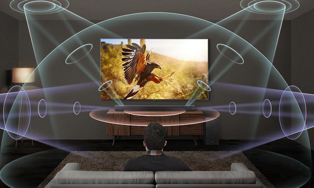 Samsung HW-Q80R surround sound