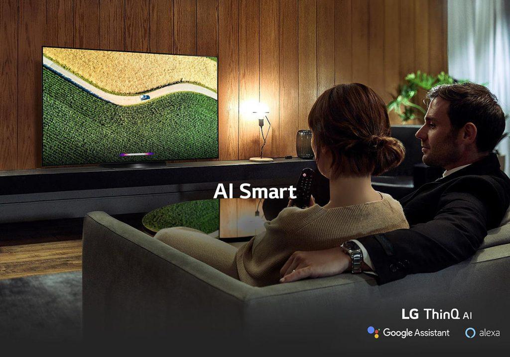 LG OLED55B9PLA is AI smart