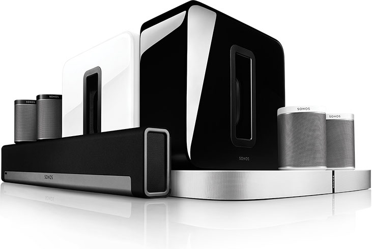 The Sonos range of premium speakers and sound equipment.