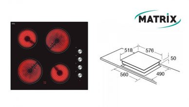 Matrix MHC101FR Built-In Ceramic Hob