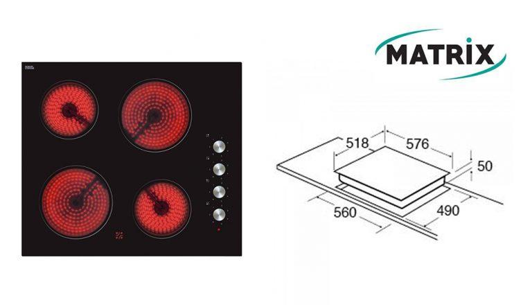 Matrix MHC101FR Built-In Ceramic Hob
