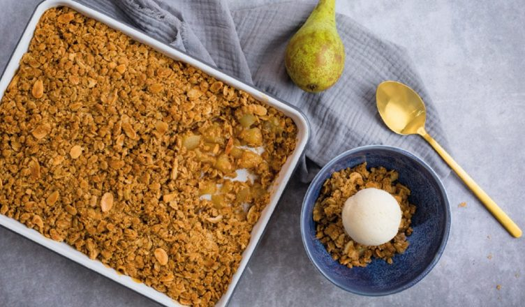 Neff Desert Pear and Ginger Crumble Recipe