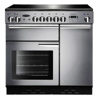 Image of RANGEMASTER Professional 90 Electric Ceramic Range Cooker - Stainless Steel & Chrome, Stainless Steel