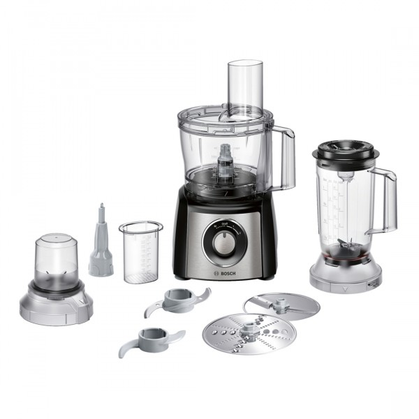 Compare cheap offers & prices of Bosch MCM3501MGB Food Processor with 800w Motor and Attachments in Stainless Steel manufactured by Bosch