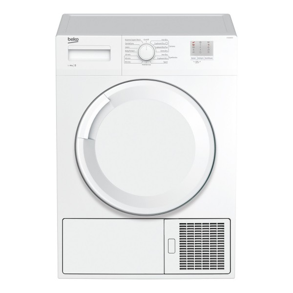 Cheapest price of Beko DTGC8000W Freestanding Condenser Tumble Dryer with 8Kg Load Capacity and 15 Drying Programmes in refurbished is £289.99