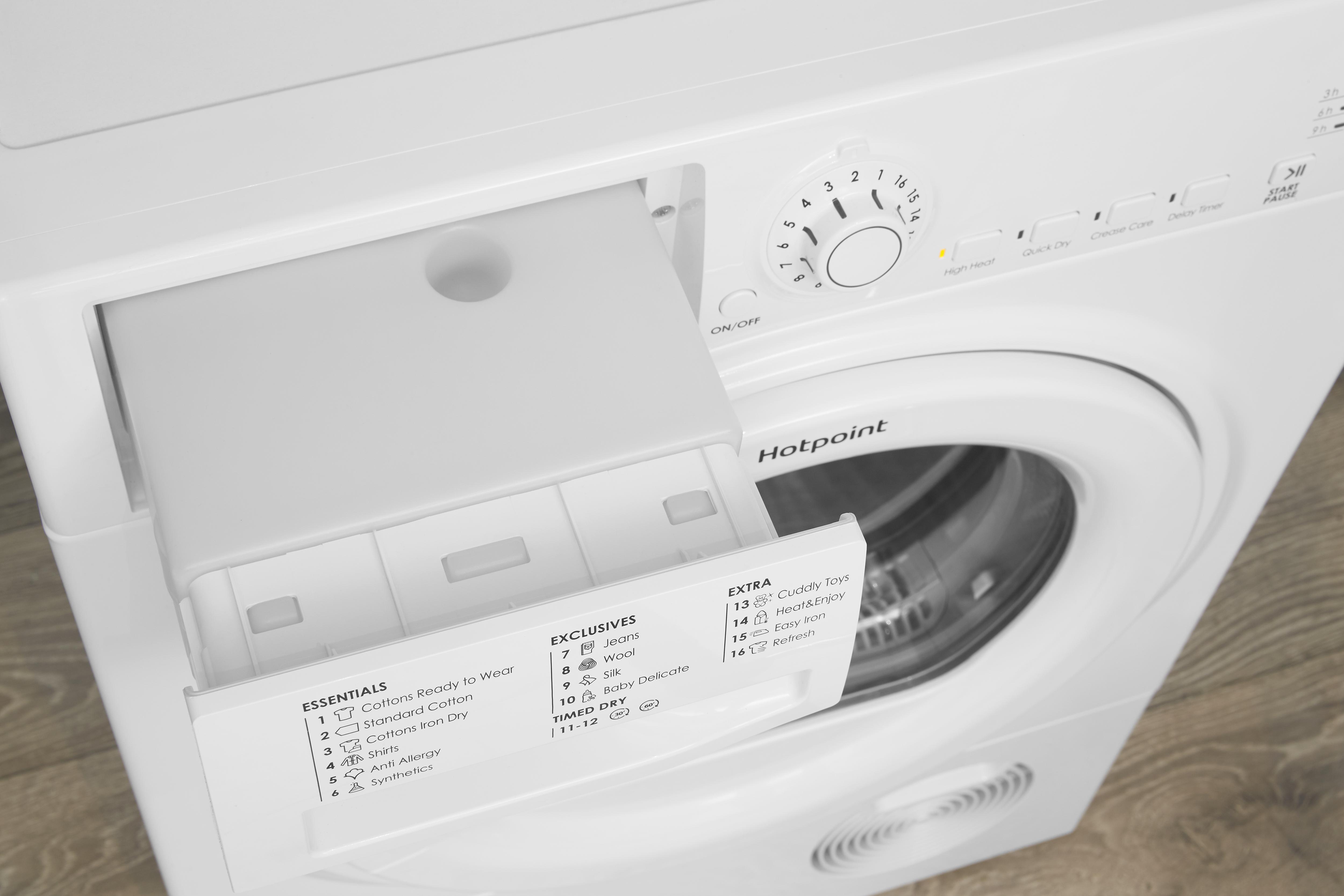 Hotpoint TCFS83BGP.9 8kg Condenser Tumble Dryer - White