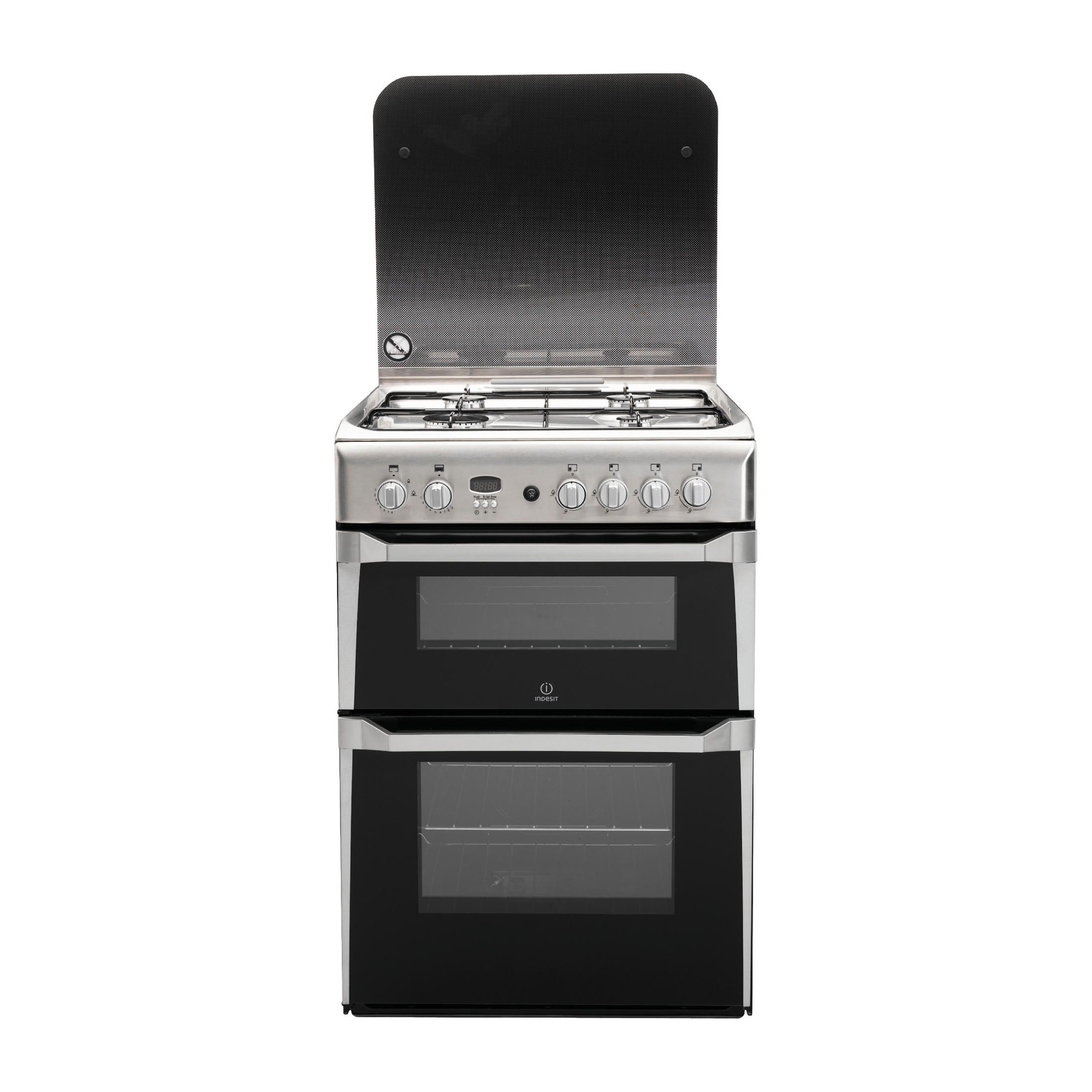 Indesit Id60g2x 4 Hob Double Gas Cooker Hughes