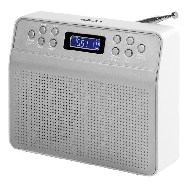 Compare prices for AKAI A60013 Portable DAB Radio with 20 Preset Stations in Silver