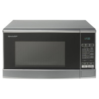 800w 20L Capacity Microwave Oven with 10 Power Levels in Silver