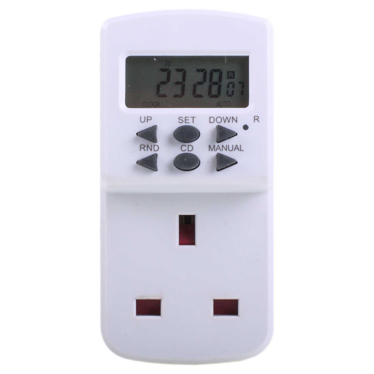 Masterplug Te7 7 Day Electronic Mains Timer White Hughes