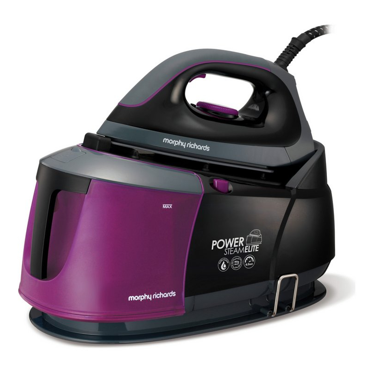 morphy richards 332012 power steam generator iron black. Black Bedroom Furniture Sets. Home Design Ideas