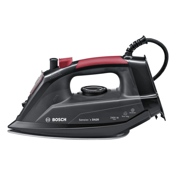 Compare cheap offers & prices of Bosch TDA2080GB Steam Iron with 2400W Power and 300ML Water Tank Capacity in Black and Red manufactured by Bosch