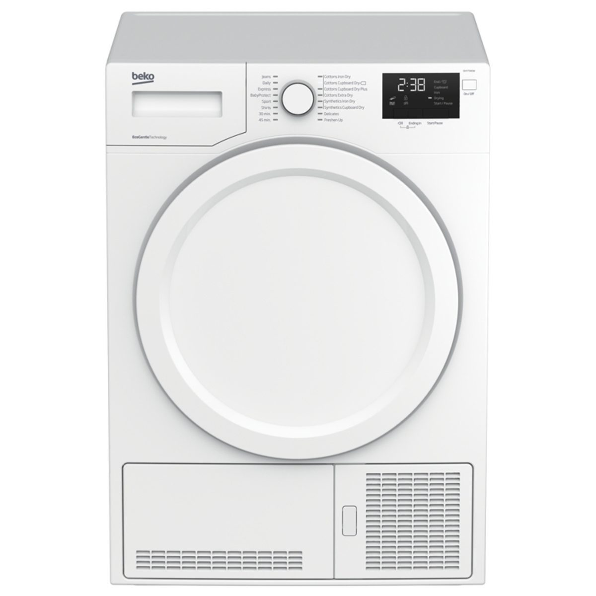 Beko Dhy7340w 7kg Load Heat Pump Condenser Dryer Hughes
