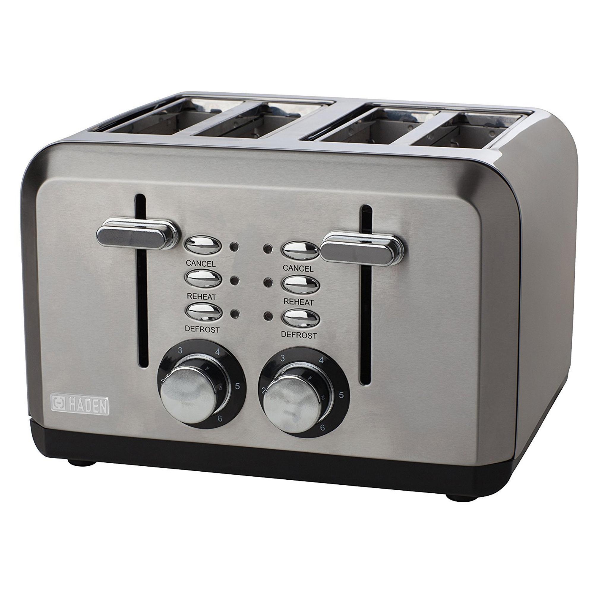 Haden 183477 1600w Sleek 4 Slice Toaster Hughes