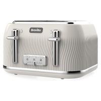 Image of Breville Flow 4 Slice Toaster - Cream