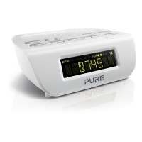 SIESTA-MIII DAB/FM Clock Radio with Two Quick-Set Alarms in White