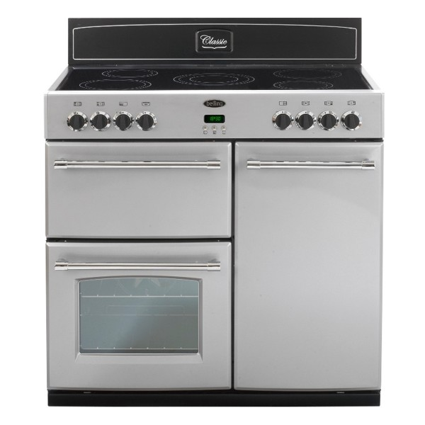 Compare retail prices of Belling FARMHOUSE90ESIL 90cm Electric Range Cooker with Grill in Silver to get the best deal online