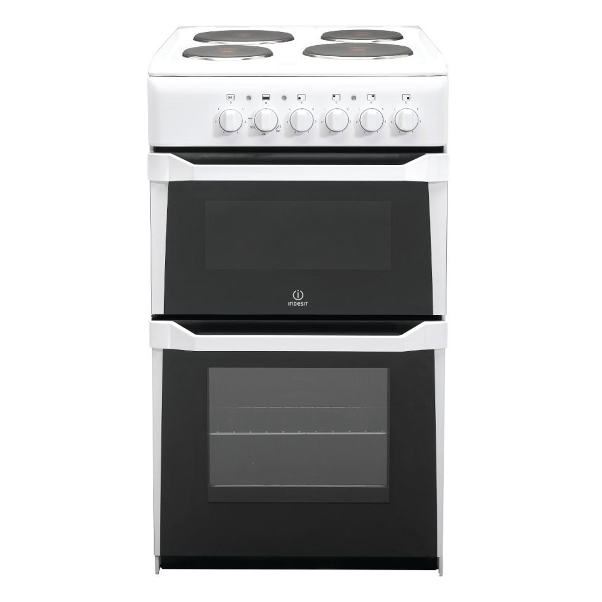 Indesit It50e W Electric Cooker With Solid Plate Hob Hughes
