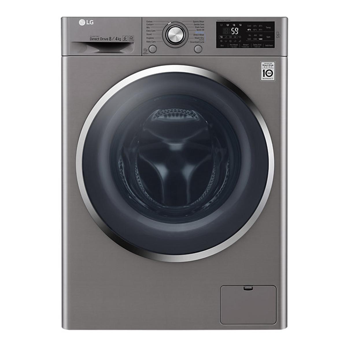 lg f4j6am2s 8kg wash 4kg dry load washer dryer hughes. Black Bedroom Furniture Sets. Home Design Ideas