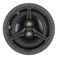 C180T2 Built In Ceiling Stereo Speaker with 2 Way Design in Black (Each)