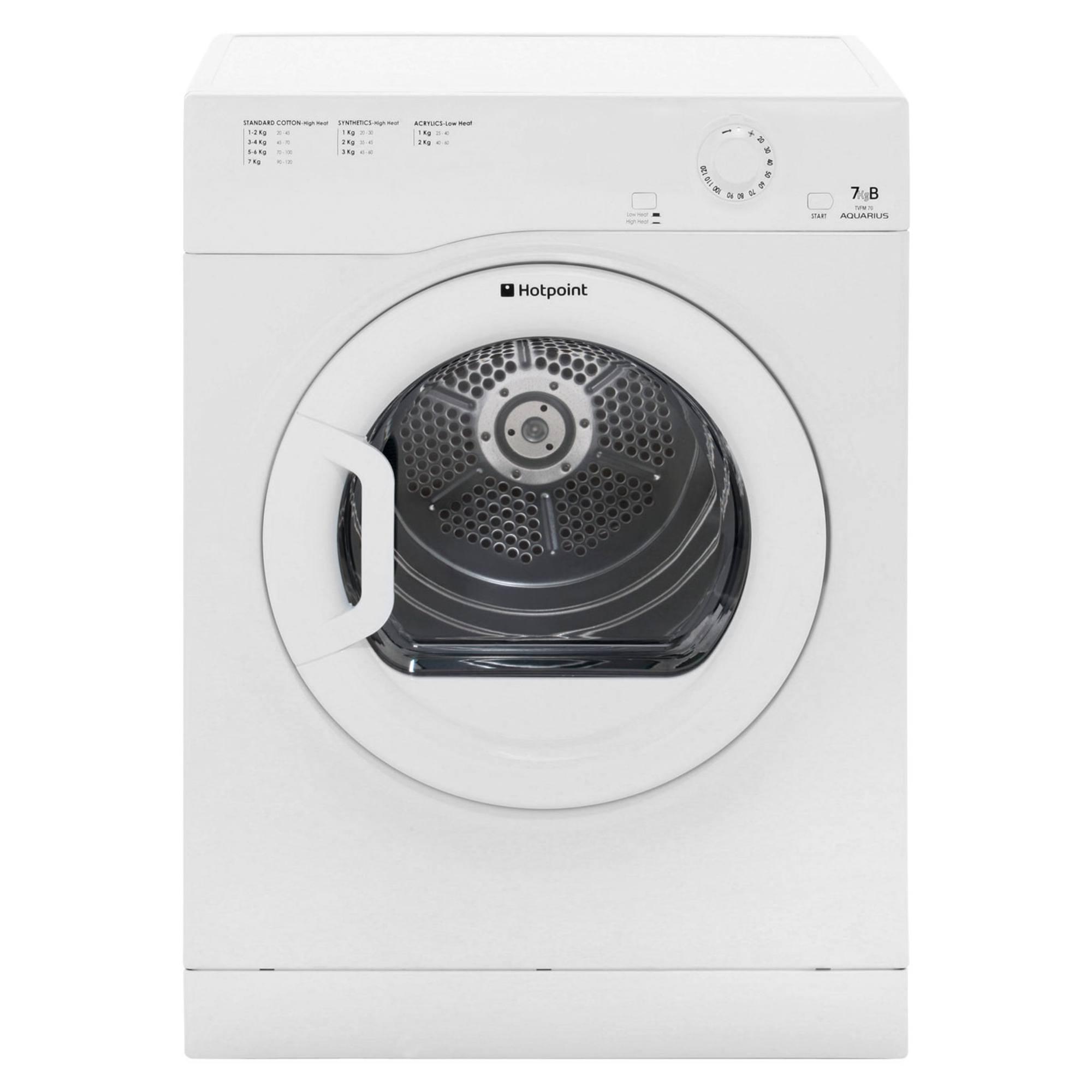 Hotpoint Aquarius Tvfs73bgp9 7kg Vented Tumble Dryer Hughes