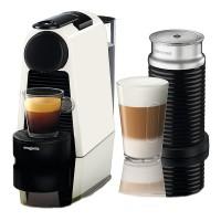 Nespresso Essenza Mini Coffee Machine with Aeroccino, Pure White by Magimix Best Price and Cheapest