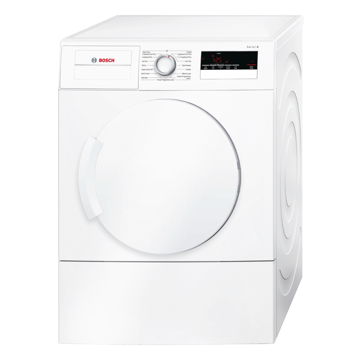 bosch wta79200gb 7kg load vented tumble dryer white hughes. Black Bedroom Furniture Sets. Home Design Ideas