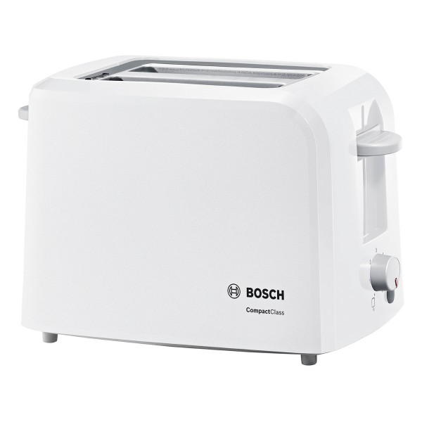 Cheapest price of Bosch 2 Slice Compact Toaster with Variable Browning Control in White in new is £29.90