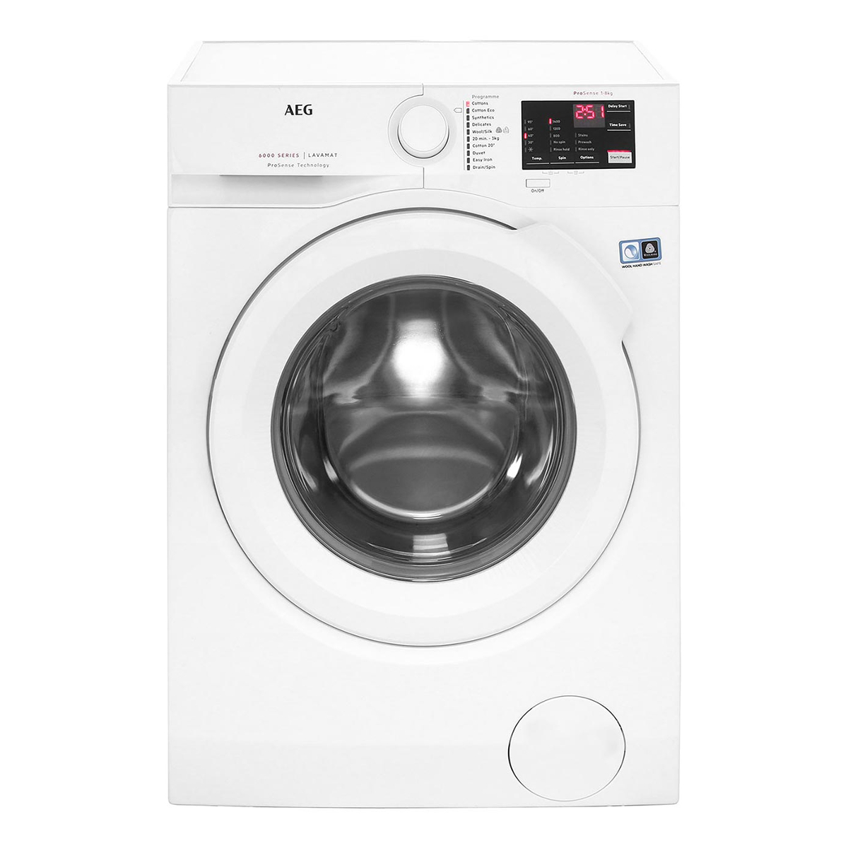 Aeg L6fbi841n 8kg A 1400rpm Washing Machine Hughes