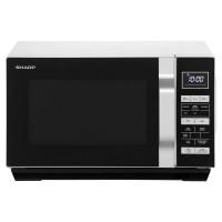 Sharp R360 Flat Tray Standard Microwave - Silver