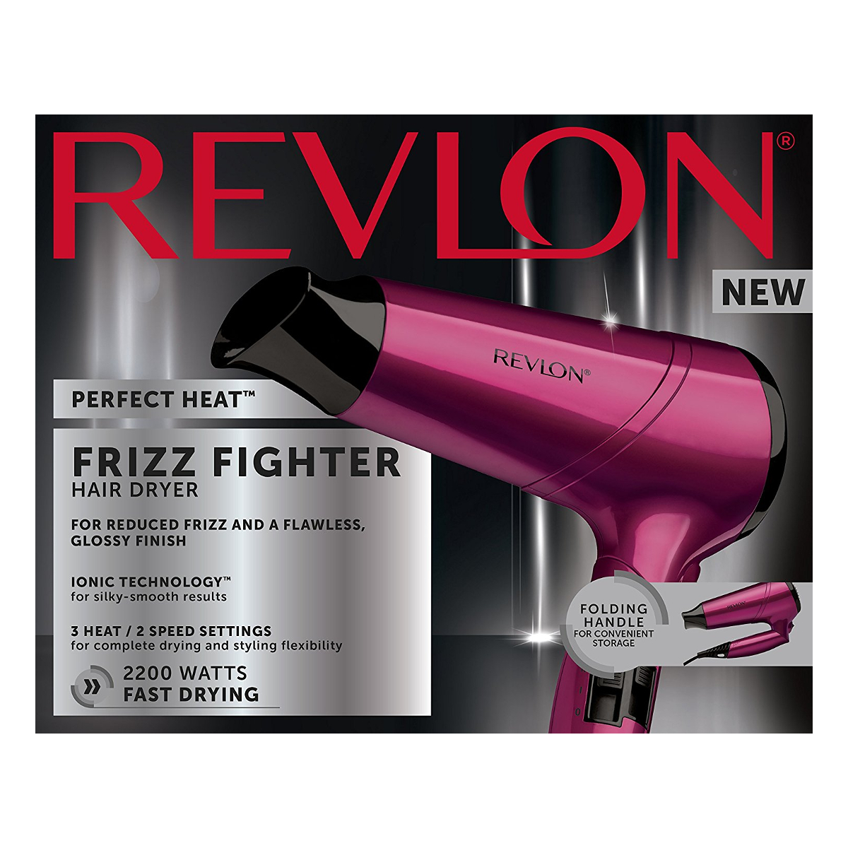 Revlon Dr5229 Perfect Heat Frizz Fight Hair Dryer With 3