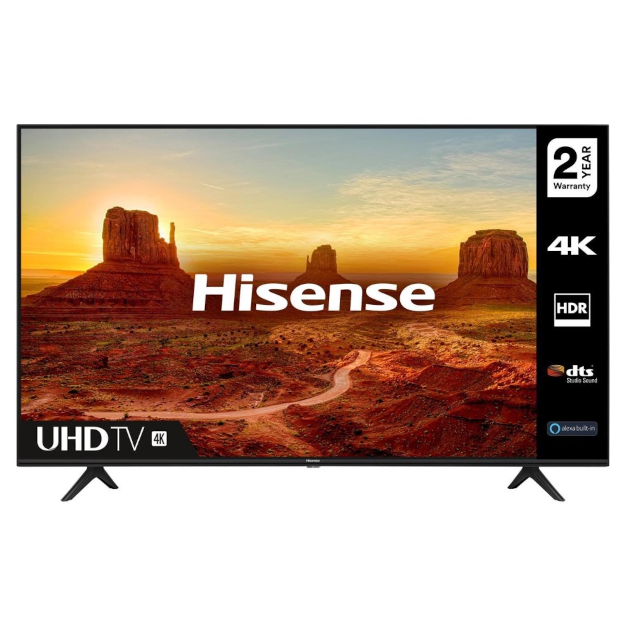 """Hisense H50A7100FTUK 50"""" 4K Ultra HD HDR Smart LED TV"""