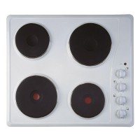 Image of INDESIT TI 60 W Electric Solid Plate Hob - White, White