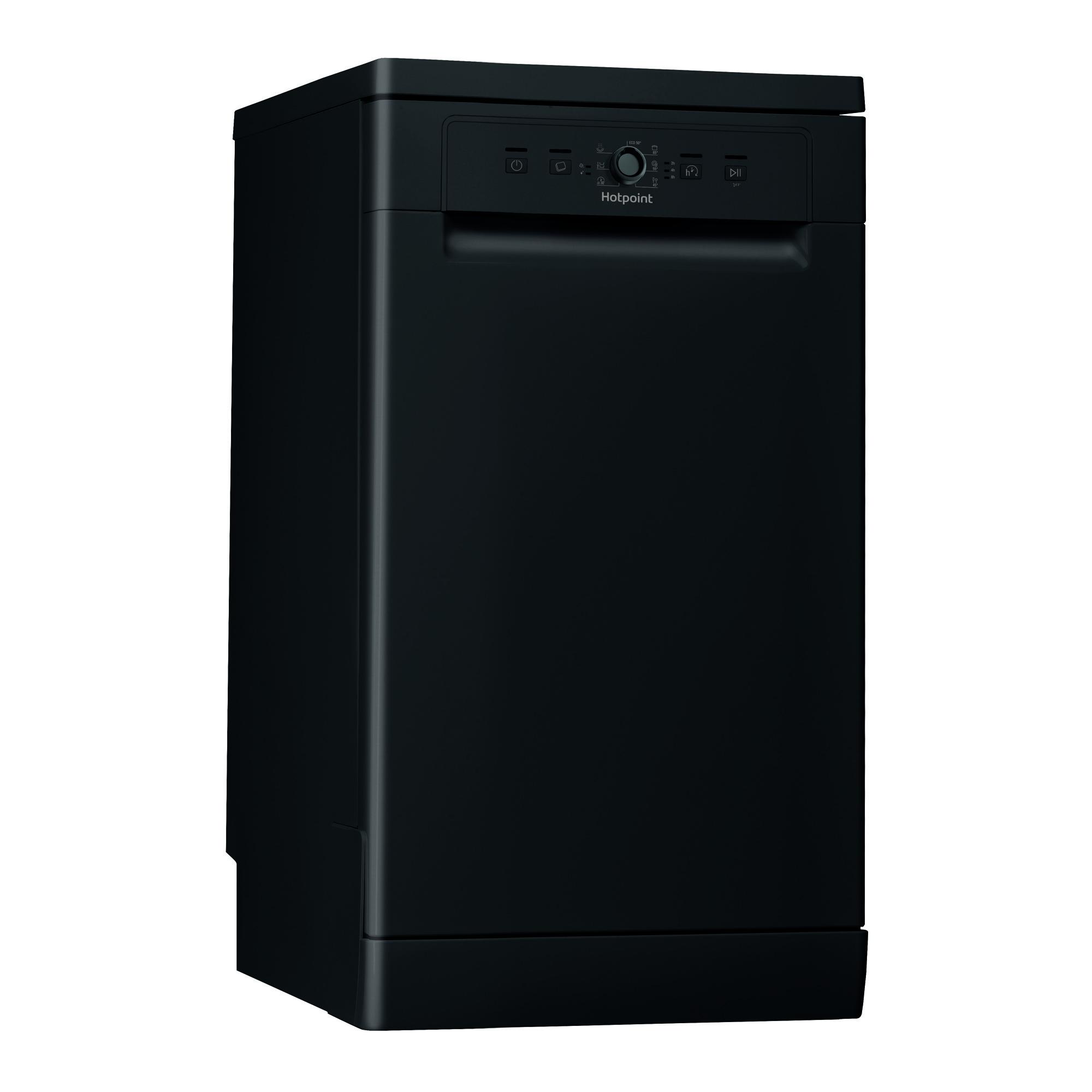 Hotpoint Hsfe1b19b 10 Place Setting Slimline Dishwasher