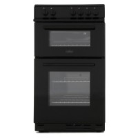 Belling FS50ET BLACK 500mm Twin Cavity Electric Cooker Solid Plate Hob Black
