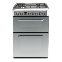 KDP60SES 600mm Dual Fuel Double oven with 100 Litres Capacity in Silver