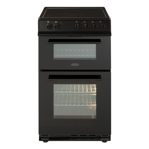 Compare retail prices of Belling FS50EDOFCBLK 500mm Electric Double Oven with 86L Capacity in Black to get the best deal online