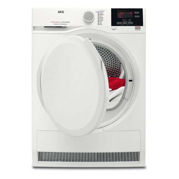 Compare retail prices of AEG T6DBG820N Freestanding Condenser Tumble Dryer with 8Kg Load Capacity and Sensor Drying in White to get the best deal online