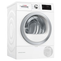 Image of BOSCH Serie 6 WTWH7660GB WiFi-enabled 9 kg Heat Pump Tumble Dryer - White, White