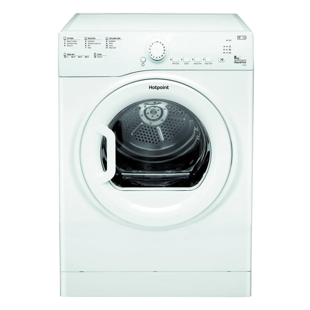 Hotpoint TVFS83CGP9 8kg Vented Tumble Dryer - White