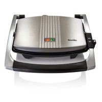 BREVILLE VST025 Cafe-Style Sandwich Press - Brushed Stainless Steel, Stainless Steel