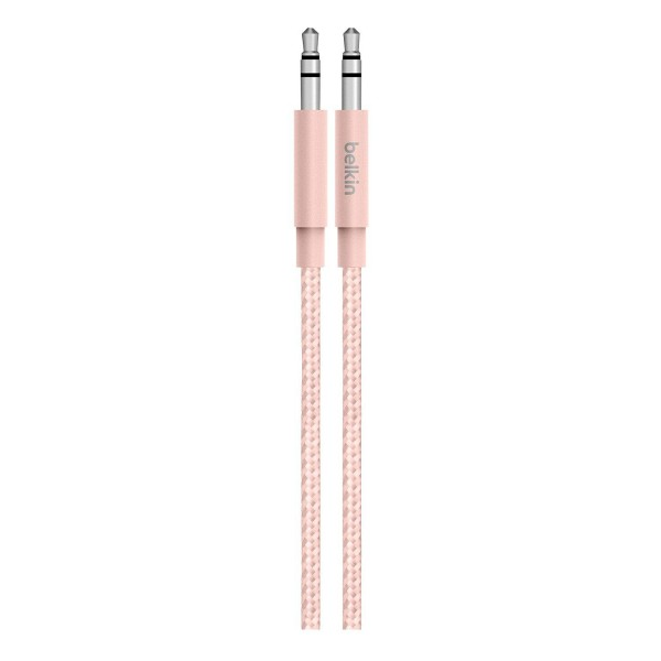 Compare retail prices of Belkin AV10164BT04-C00 1.25M Braided Tangle Free 3.5MM Audio Cable in Pink to get the best deal online