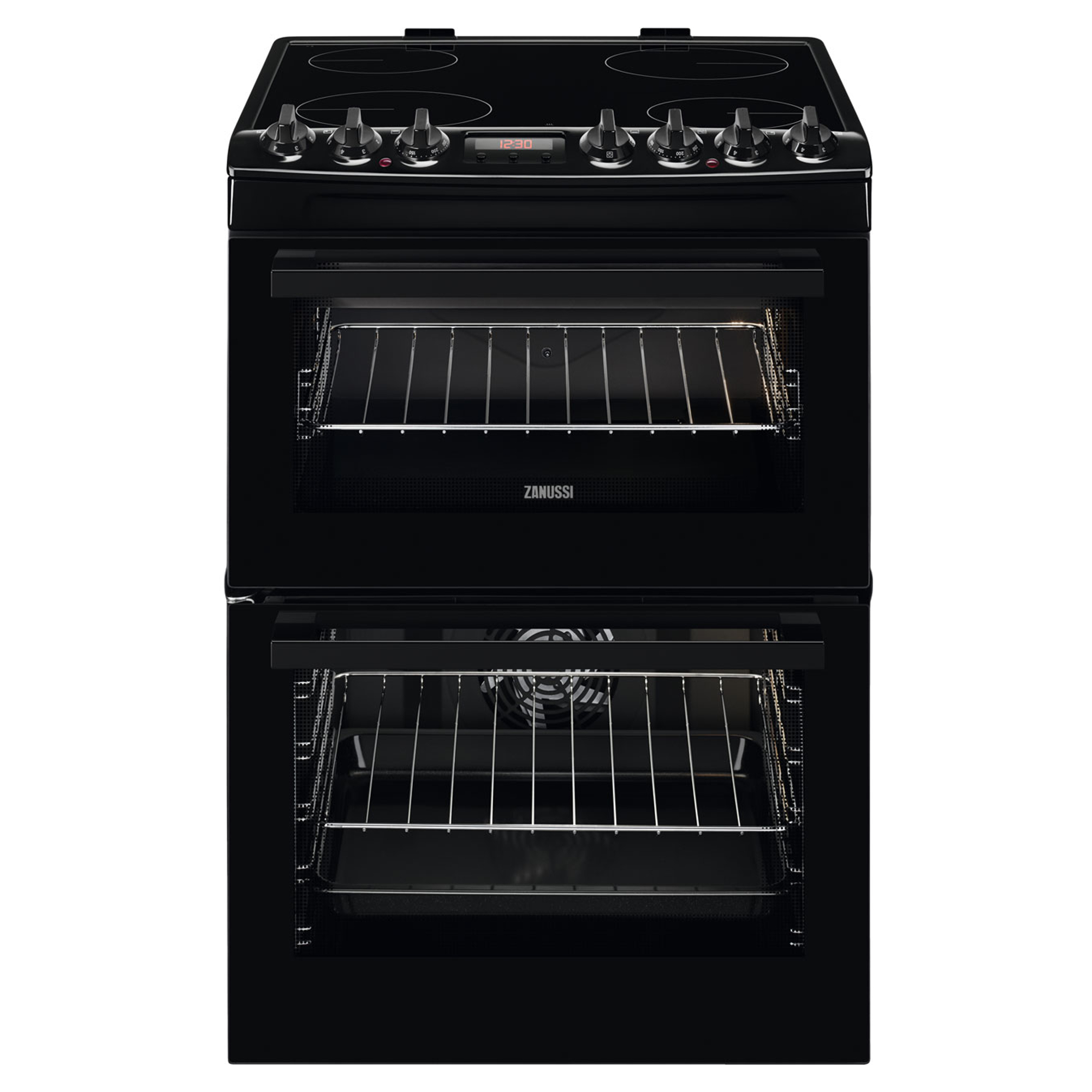Zanussi Zcv69350ba Electric Cooker With Ceramic Hob