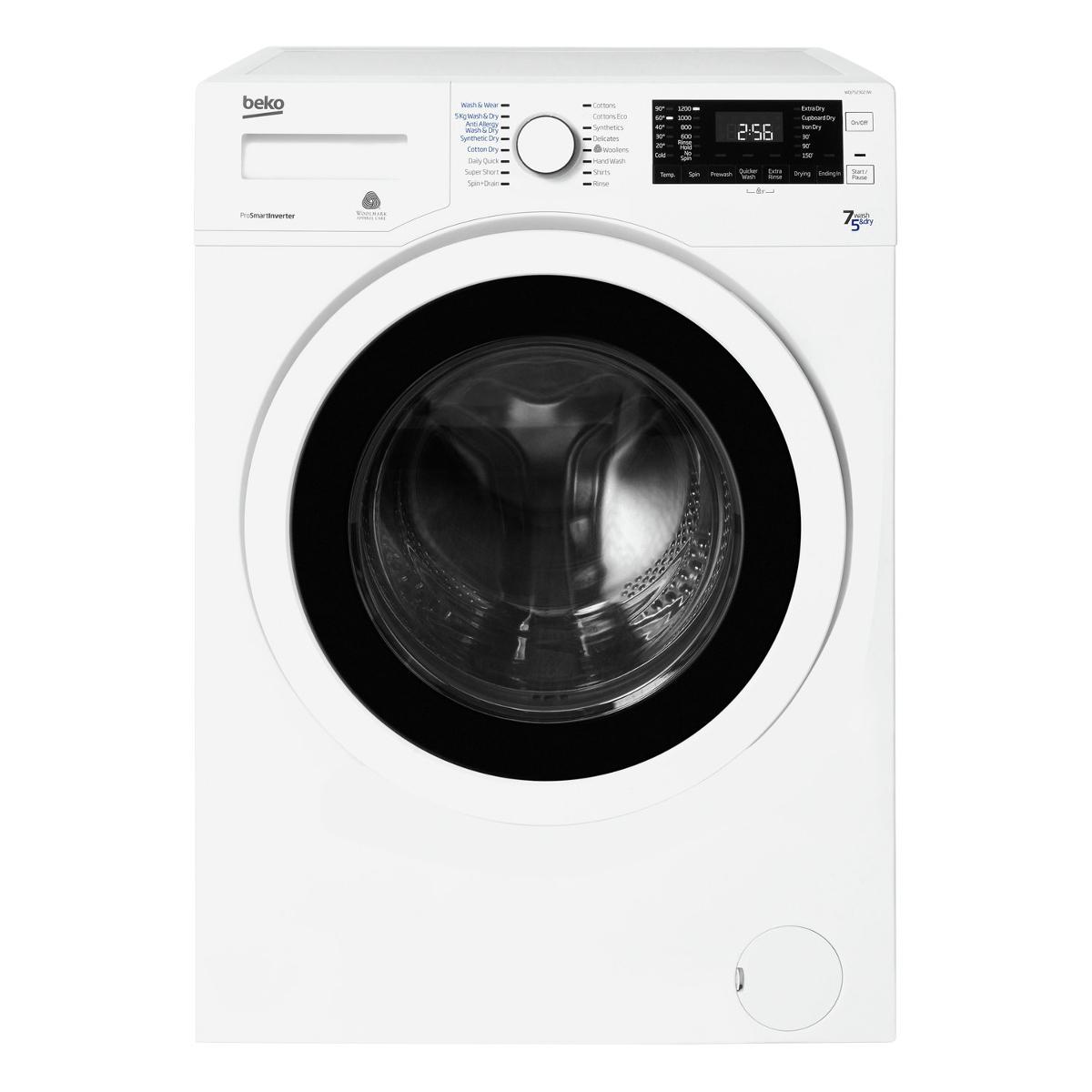 Beko Wdj7523023w 7kg Wash Amp 5kg Drying Washer Dryer Hughes