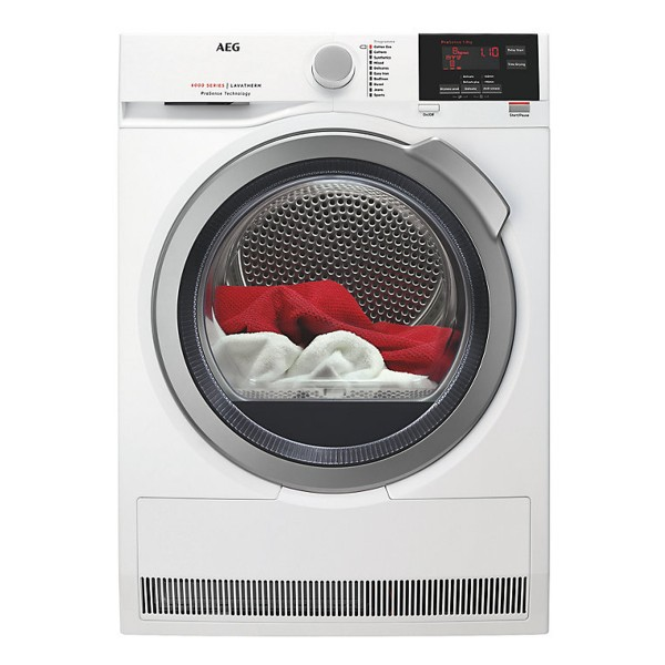 Compare retail prices of AEG T6DBG822N Freestanding Condenser Tumble Dryer with 8Kg Load Capacity and Sensor Drying in White to get the best deal online