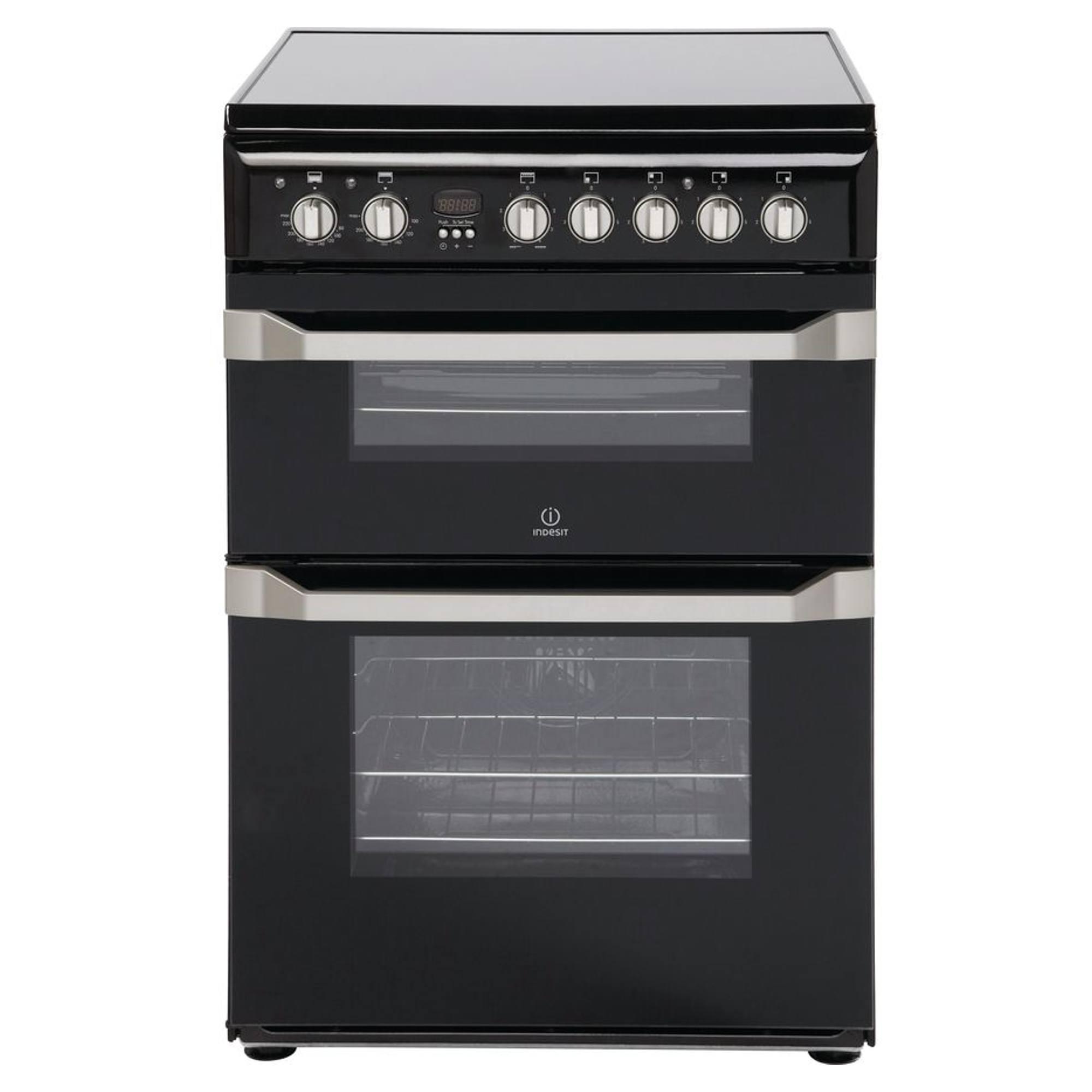 Indesit Id60c2ks Electric Cooker With Ceramic Hob Hughes