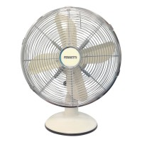FERTDF120CR 30cm Retro Metal Desk Fan in Cream