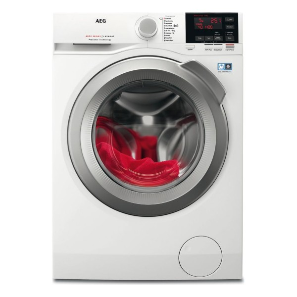 Compare retail prices of AEG L6FBG942R Freestanding Washing Machine with 9Kg Load Capacity and 1400RPM Spin Speed to get the best deal online